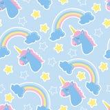 stock image of  good night background. seamless pattern with unicorns