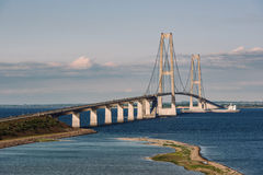 stock image of  great belt bridge in denmark