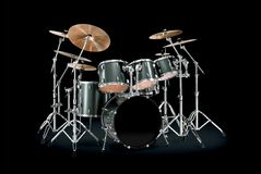stock image of  green drum kit