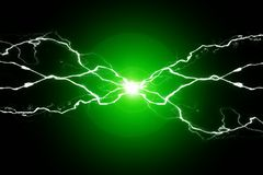 stock image of  green energy electricy plasma power crackling fusion