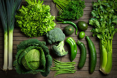 stock image of  green vegetables