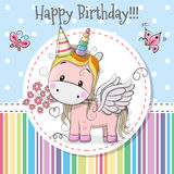 stock image of  greeting card cute unicorn