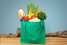 stock image of  grocery bag