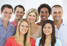 stock image of  group of happy and positive business people in casual dress