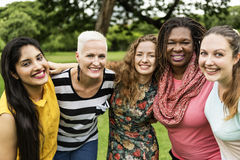 stock image of  group of women socialize teamwork happiness concept
