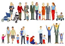 stock image of  groups of families