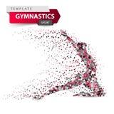 stock image of  gymnastics, sport - dot illustration on the white background.