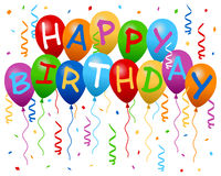 stock image of  happy birthday balloons banner