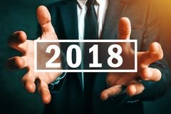 stock image of  happy new 2018 business year