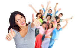 stock image of  happy people.