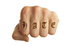 stock image of  hate fist