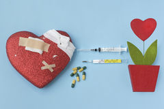 stock image of  heart cure and transplant
