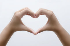 stock image of  heart with hands