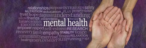 stock image of  help for those with mental health issues word tag cloud