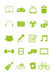 stock image of  hobbies icon set