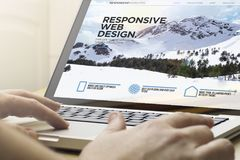 stock image of  home computing responsive web design