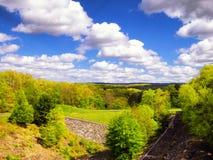 stock image of  hop brook dam