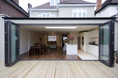stock image of  house kitchen extension