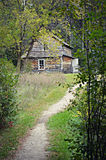 stock image of  house in woods