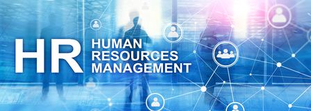 stock image of  human resource management, hr, team building and recruitment concept on blurred background