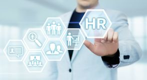 stock image of  human resources hr management recruitment employment headhunting concept