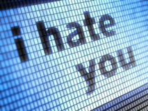 stock image of  i hate you