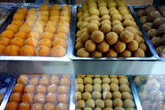 stock image of  indian laddu sweetmeats