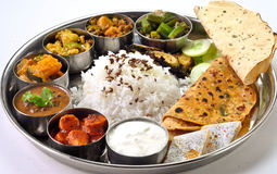 stock image of  indian thali