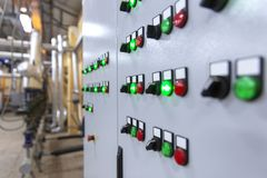 stock image of  industrial control panel
