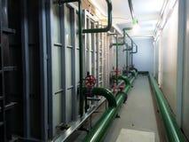stock image of  industrial equipment interior of plastic tanks manufacturer