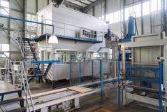 stock image of  industrial interiors. internal factory building interior.