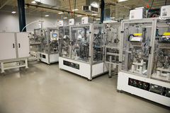stock image of  industrial manufacturing factory, automation machines