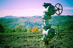 stock image of  industrial pipeline