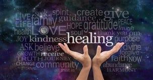 stock image of  infinite healing words