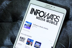 stock image of  info wars app logo
