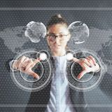 stock image of  innovative technologies in science and medicine. technology to connect. the concept of security.