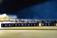 stock image of  instrumental music concept wooden blocks on the table