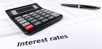 stock image of  interest rates