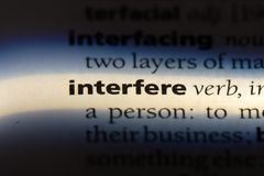 stock image of  interfere