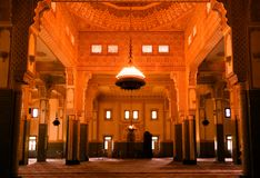 stock image of  interior of niamey grand mosque in niamey, niger