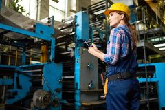 stock image of  inventory at manufacturing plant
