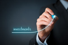 stock image of  investments increase