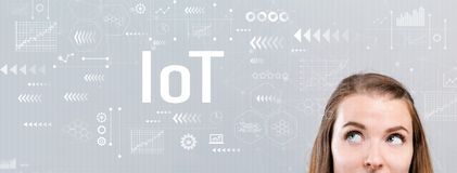 stock image of  iot with young woman