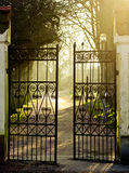 stock image of  iron gate