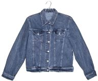 stock image of  denim jeans jacket isolated on white