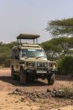 stock image of  jeep on safari