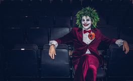 stock image of  the joker from batman at a comic con event