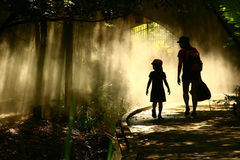 stock image of  journey in the mystical garden