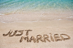 stock image of  just married
