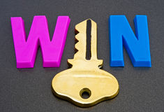 stock image of  key to a win ?
